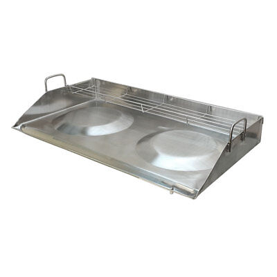 """32"""" Stainless Steel Convex Griddle Comal with Rack"""