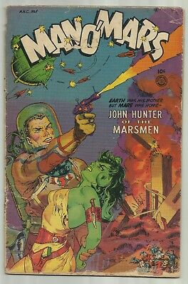 Man O' Mars #1 1953 Fiction House Maurice Whitman Cover Only Issue in Series