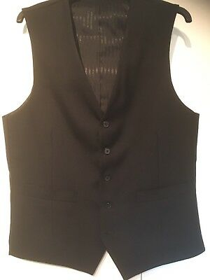 Men's black  Office / Uniform Style Waist Coat Size 38