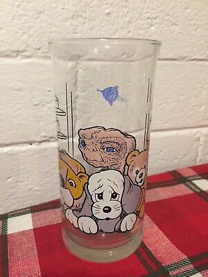 Vintage 1982 ET Extra Terrestrial Drinking Glass Cup Home Pizza Hut Collectible