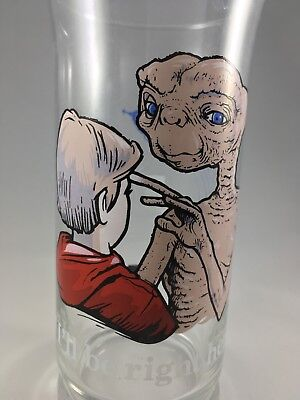 "E.T.  ET ""I'll Be Right Here"" Glass, 1982 Pizza Hut Ltd. Ed. Collector's Series"