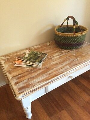 hamptons beach house french country style coffee table with drawer aud picclick au. Black Bedroom Furniture Sets. Home Design Ideas