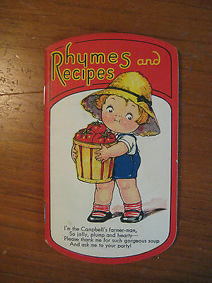 Vintage Campbell's Soup Rhymes And Recipes  Campbell's Kids
