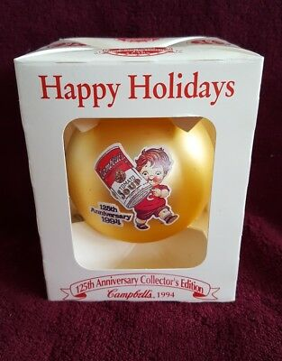 Vintage Glass Ornament/Seasons Greetings Collector Edition 125th Anniversary '94
