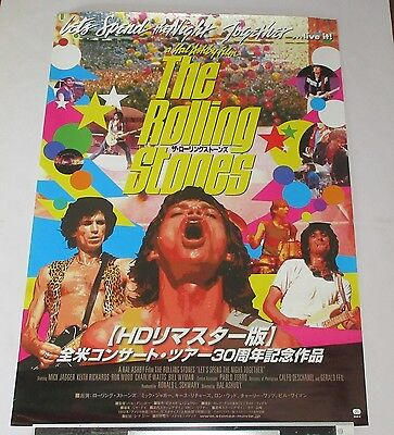ROLLING STONES official JAPAN PROMO ONLY cinema POSTER Lets - MORE in stock!