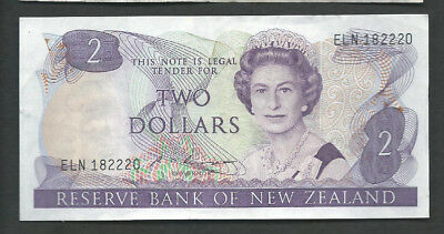 New Zealand 1985-89 2 Dollars P 170b Circulated