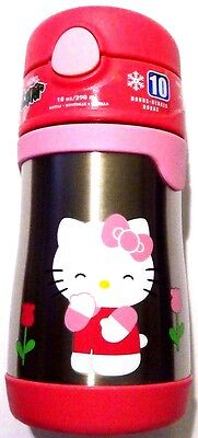 Thermos Smiley Hello Kitty Tulip Flower Funtainer Stainless Steel Insulated 10oz