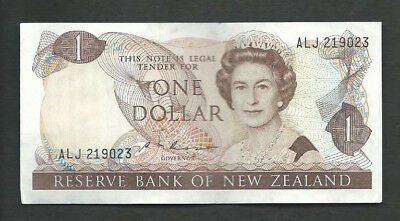 New Zealand 1985-89 1 Dollar P 169b Circulated