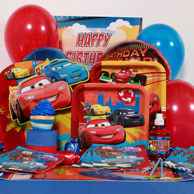 Disney Cars Birthday Party Supplies - Tableware Hanging Table Decoration Favors