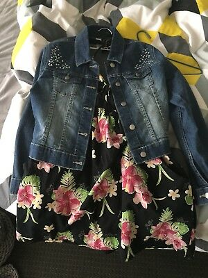Roxy Girls Dress 10 Target Girls Denim Jacket 10