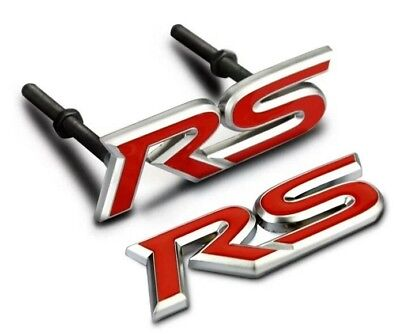 RS decal Front Grille+ Rear Car Emblem sticker Jaguar XK XF XJ XFR R Type Grill