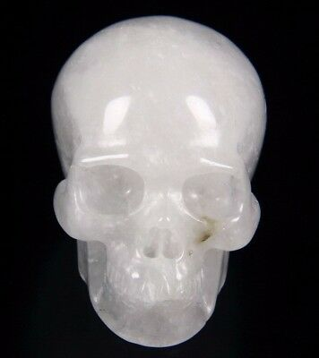 "2.0"" TOURMALINE QUARTZ Carved Crystal Skull, Realistic, Crystal Healing"
