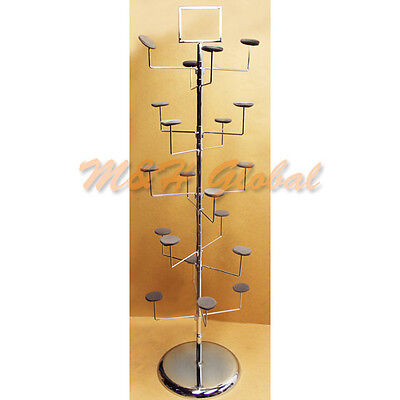 10 Tier Hat Display Retail Rack Floor Fixture 20 Hat Hanger Tree Stand