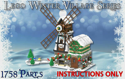 Lego Winter Village Windmill -INSTRUCTIONS ONLY- fit 10216 10222 10249 10199 etc
