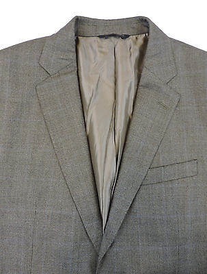 Banana Republic Men's Two 2 Button Dual Vent Glen Plaid Sport Coat 44 R/S