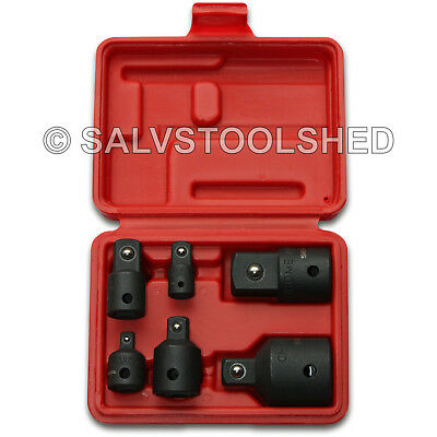 6pc Impact Socket Adaptor Set Ratchet Drive Increaser Reducer Convertor 3/4-1/4""
