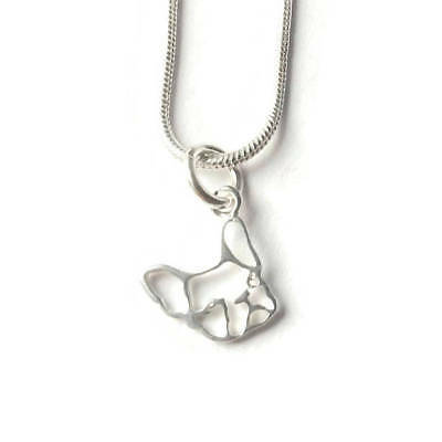 Handmade French Bulldog Necklace, Sterling Silver, French Bulldog Jewelry