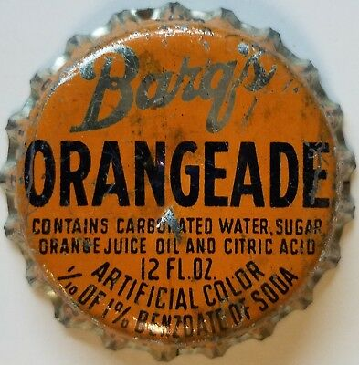 BARQ'S ORANGEADE TWIN CITY BOTG Soda Bottle Cap Crown USED CORK Caps