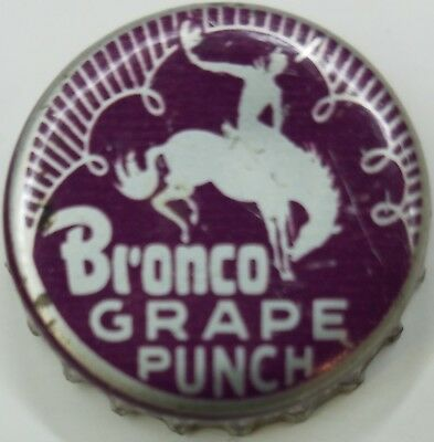 BRONCO GRAPE SODA Bottle Cap Crown USED CORK Caps