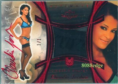 2010 Benchwarmer Ultimate Lingerie Auto: Claudia Jordan #1/1 Of Red Autograph