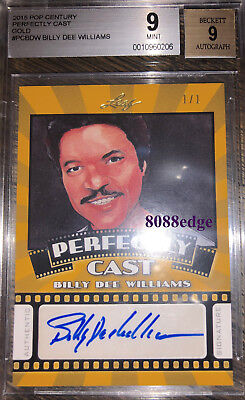 2015 Pop Century Perfectly Cast Auto: Billy Dee Williams #1/1 Autograph Bgs 9