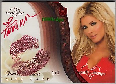 2010 Benchwarmer Ultimate Lip Kiss Auto: Torrie Wilson #1/1 Of Red Autograph