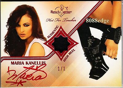 2011 Benchwarmer High Heel Auto: Maria Kanellis #1/1 Of One Swatch Red Autograph