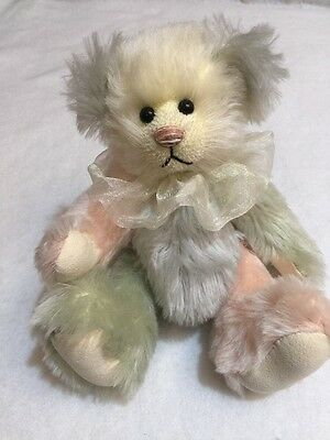 Heather Stanley Signed 2001 Bear # 1 Limited Edition Blossom Mohair Glass Eyes