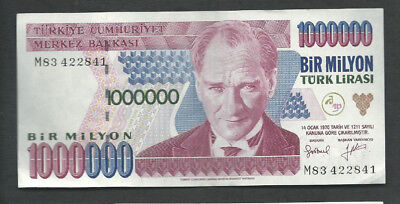 Turkey 1970 (1995) 1000000 (1,000,000) Lira P 209 Circulated