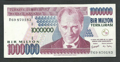 Turkey 1970 (2002) 1000000 (1,000,000) Lira P 213 Circulated