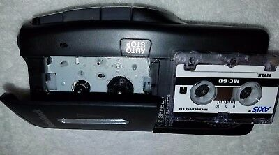 Radio Shack 14-1148 2-Speed Micro-Cassette Recorder TESTED WORKING Black