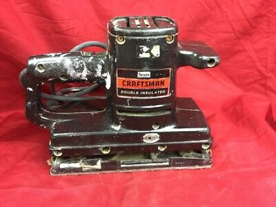 Sears Craftsman Sander 315.11690 Used Double Insulated Dual Motion