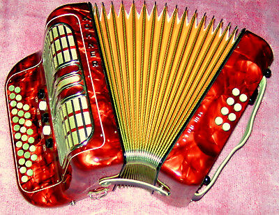 Made In Germany To Hohner C/f Club Iii M  Diatonic Button Accordion Top Strap