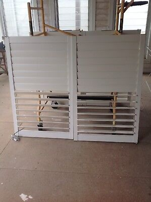 Pair Of White Plantation Shutters  - Used, Good Condition