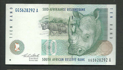 South Africa 1993 10 Rand P 123a Circulated