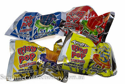Ring Pops Lollipops  -  24 pieces  -  KIDS PARTY LOLLIES Post Included