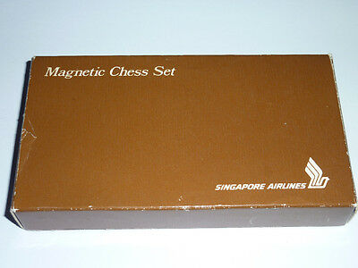 Vintage Singapore Airlines Magnetic Chess Set Old Board Game