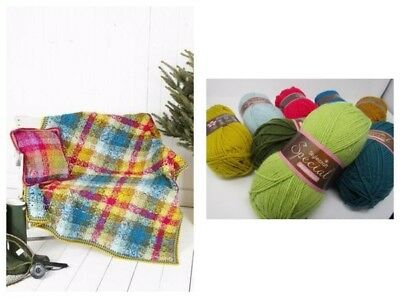 Stylecraft Special DK Tartan Blanket Colour Pack with LEAFLET Pattern