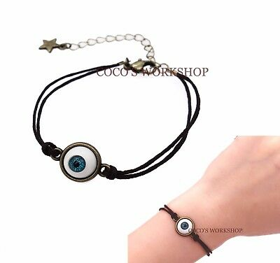 Vintage Bronze Mini Eyeball Bracelet Eye Bracelet Halloween Costume Jewellery