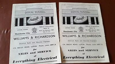 Luton Town V Man City 1961 FA Cup 4th Rnd - Abandoned and Rearranged Programme