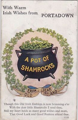 Postcard Irish Wishes From Portadown Armagh Mailing Novelty 12 x Pull Out Views