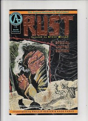 Rust #1 Special Limited Edition foil cover 1st Spawn ad!  VF/NM