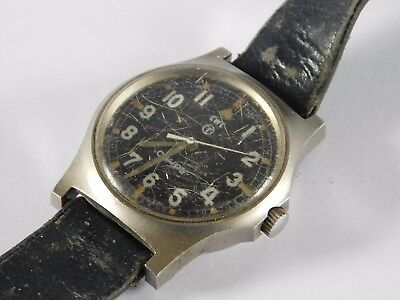 Gents Vintage Military Issue Watch Cwc Watch Broad Arrow Mark & 11773 / 80