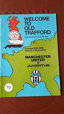 Manchester United V Juventus 20.10. 1976 - UEFA Cup - Token intact