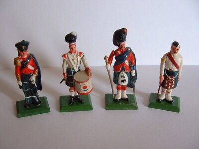 4 x Grant,s Whisky Military Collection  Lead Soldier