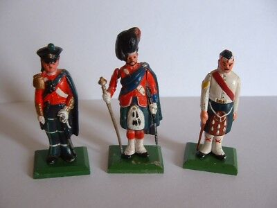 3 x Grant,s Whisky Military Collection  Lead Soldier