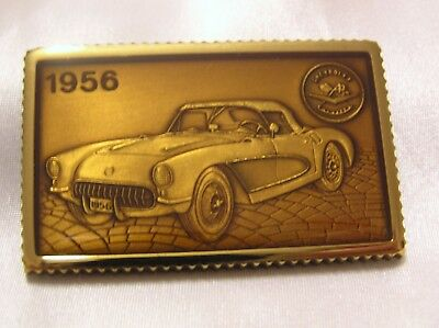 CORVETTE 1956 SOLID SILVER and ENAMEL INGOT HAND CRAFTED CHEVROLET #17
