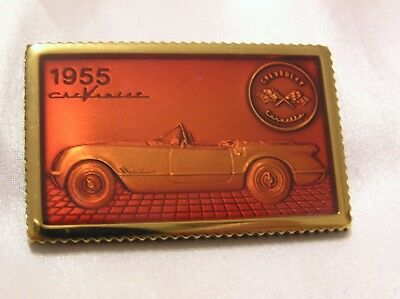 CORVETTE 1955 SOLID SILVER and ENAMEL INGOT HAND CRAFTED CHEVROLET #18
