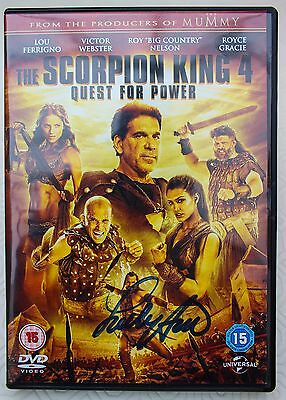 The Scorpion King 4 Dvd - Hand Signed By Lou Ferrigno (The Hulk)