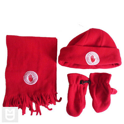 Tyrone GAA RED Baby - Infants  Scarf Hat and Mittens Tir Eoghain